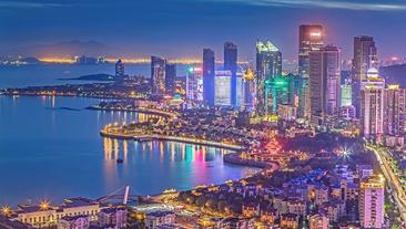 青岛上合峰会锛�魅力城市换新衣 锐捷4G路由点亮炫丽夜景